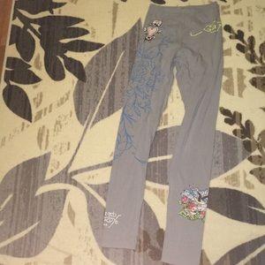 Grey Ed Hardy leggings